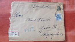 """DR Bis 32: R-Brief Mit 25 Pf Germania MiF Aus Berlin 2  Rückseitig Mit Verschluß """"Kaiserliches Postamt...""""  Knr: 88 II - Duitsland"""
