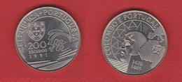 Portugal  --  200  Escudos 1991  --  Km # 658  --  état  SUP - Portugal