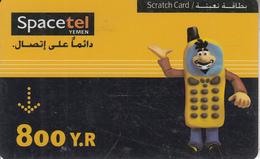 YEMEN - SpaceTel Prepaid Card 800 Y.R, Used