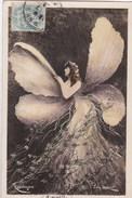 Cartes 1905 SERIE PHOTO REUTLINGER ET JOHN LAURENT / FEMME EN PAPILLON - Artistes