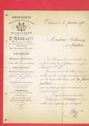 FACTURE 1892 DROGUERIE MERE PHARMACIEN RUE BOURGOGNE A ORLEANS ANCIENNE MAISON PATRE - France