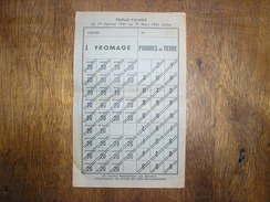 RATIONNEMENT,1941,fromage,pommes De Terre - 1939-45
