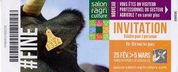 TICKET D ENTREE SALON DE L AGRICULTURE 2017 FINE - Tickets D'entrée