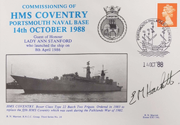 1988 HMS Coventry Launch. Signed Captain E M Hackett. Limited Edition Of 200 Covers. See 2 Scans - Unclassified