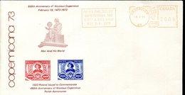 19314 Canada, Cover With Red Meter/freistempel/ema 1973 Vancouver, Nicolas Copernic, Kopernikus,copernicus,kopernika - Astronomy