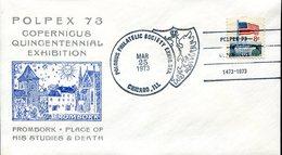 19315 U.s.a.,special Cover With Postmark 1973 Chicago, Polpex, Nicolas Copernic, Kopernikus,copernicus,kopernika - Astronomie