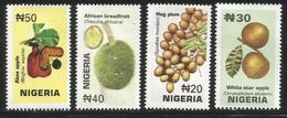 2001 Nigeria Fruits Complete Set Of 4 MNH - Nigeria (1961-...)