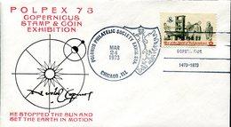 19317 U.s.a.,special Cover With Postmark 1973 Chicago, Polpex, Nicolas Copernic, Kopernikus,copernicus,kopernika - Astronomie