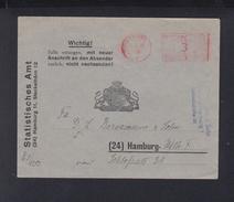 Dt. Reich Brief 1944 Statistisches Amt Hamburg - Germania