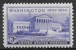 1950 3 Cents Supreme Court, Mint Never Hinged - Verenigde Staten