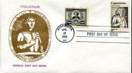 19321 U.s.a.,special Cover With Fdc Postmark 1973 Polonus  , Nicolas Copernic, Kopernikus,copernicus,kopernika - Astronomie