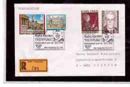 TEM9084   -   HEILIGENBLUT 16.3.90   /   REGISTERED COVER WITH INTERESTING POSTAGE  -  RADIO KARNTEN TREFFPUNKT - Briefmarken