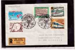 TEM9093   -   GMUEND  26.8.89   /   REGISTERED COVER WITH INTERESTING POSTAGE  -  30 JAHRE GWF. VOYAGER BEI NEPTUN - Lettres & Documents