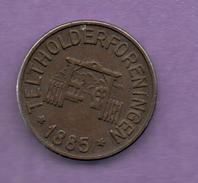 FICHAS - MEDALLAS // Token - Medal - 25 DYREHAVSBAKKEN  Dinamarca 1885   (1) - Zonder Classificatie