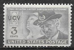 1951 3 Cents Confederate Reunion Mint Never Hinged - Stati Uniti
