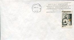 19328 U.s.a., Cover And Special  Postmark  1973 New York , Nicolas Copernic, Kopernikus,copernicus,kopernika - Astronomùia