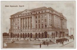 #7517 Croatia, Zagreb Old Photo Postcard Unused: Esplanade Hotel, Animated - Kroatië