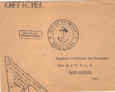 Porte - Avions  CLEMENCEAU . Service à La Mer ; - Poste Navale