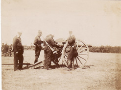 Photo 1897 Au Camp De La Braconne - Exercice De Tir, Soldats Du 16ème Rgt D'artillerie, Canon (A169) - Other Municipalities