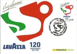 Caffè Lavazza, Cartoline Maximum Ufficiali Di Poste Italiane, 2015. - Caffé