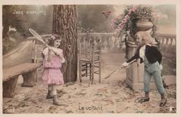 Carte 1910 LES SPORTS / JEUX D'ENFANTS / LE VOLANT (badmington) - Cartes Postales