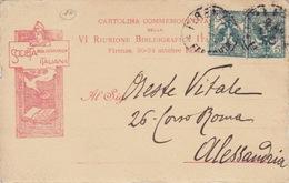 357- CARTOLINA COMMEMORATIVA DELLA VI RIUNIONE BIBLIOGRAFICA ITALIANA - FIRENZE20-24 OTTOBRE 1903 - Cartoline