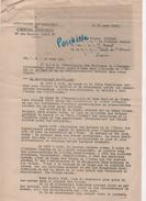 FRANC MACONNERIE - LETTRE ASSOCIATION DES PARTISANS DE L'ENERGIE LIBERATRICE 1953 - GRAND ORIENT DE FRANCE - Documentos Históricos