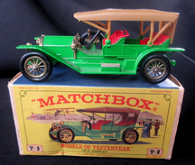 LESNEY - MATCHBOX * 3 X MODELS OF YESTERYEAR - FORD T - OPEL COUPE  -  ORIGINAL BOXES - VOITURES CONDITION A/B  * 1965 ! - Jouets Anciens