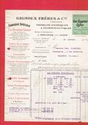 FACTURE DE GUERRE 1917 EAU OXYGENEE GIFRER USINE A DECINES PRES LYON PHARMACIE CHIMIE GIGNOUX FRERES - France