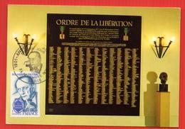 Carte Maximum MALRAUX ORDRE DE LA LIBERATION - De Gaulle (General)