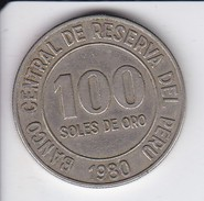 MONEDA DE PERU DE 100 SOLES DE ORO DEL AÑO 1980   (COIN) - Perú