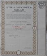 """Titolo  1 Azione """" Istituto Farmacologico Serono """" 1970 - Industrial"""