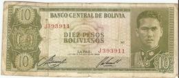 Bolivie - 10 Pesos Bolivianos - 1962 -  Bolivia , Cerro De Potosi, Busch - Bolivia