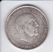 MONEDA DE PLATA DE ESPAÑA DE 100 PTAS DEL AÑO 1966 - 66 DE FRANCO (COIN) SILVER-ARGENT - [ 5] 1949-… : Kingdom