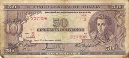 Bolivie - 50 Bolivianos - 1945 -  Série S - P 141 - Bolivia , Ganaderia , Sucre - Bolivia