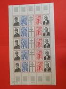 France > 1970-1979 > Neufs > Charles De Gaulle, Hommage 1971 N° 1695 Y&T - Feuille Complète - Feuilles Complètes