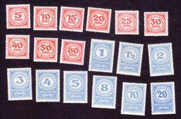 Austria, Scott #J75-J92, Mint Never Hinged, Postage Due, Issued 1920 - Postage Due