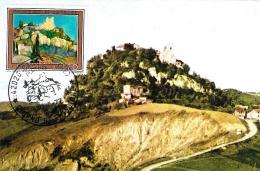 [MD0674] CPM CASTELLO DI CANOSSA IX CENTENARIO INCONTRO A CONOSSA TRA GREGORIO VII  ENRICO IV CON ANNULLO 30.5.1977 - NV - Reggio Emilia