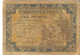Espagne - 1 Peseta - 1 De Junio 1940 - Série A - Espana, Cortez - [ 3] 1936-1975 : Régence De Franco