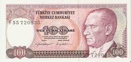 Turquie - 100 Lira - UNC -  14 Ocak 1970 - Série F - P 194 - Turquie