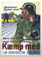 "Militaria WW2 - Photo Affiche De Recrutement Allemande - ""Kallerat Kom Med SS- Division VIKING!"" - 1939-45"