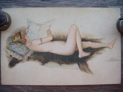 9D.  S. Meunier.  Le Nu Moderne Par S Meunier Érotique, Érotica, Erotic - FEMME. Art Deco. The Lady With The Newspaper. - Meunier, S.