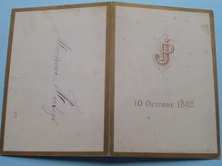 10 Octobre 1882  J P  ( Monsieur Hertogs / Zie Foto Voor Details ) !! - Menus