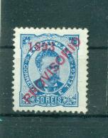 """Portugal, Schräger Aufdruck """"Provisorio"""" Und 1893, Nr. 91 Falz * - 1892-1898: D. Carlos I."""