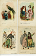 Illust : GAVARNI - LES HUMORISTES DE JADIS - Le Lot De 4 Cartes - Illustrateurs & Photographes