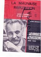 """10 L)   La Mauvaise Réputation"""" Brassens Georges  1921 1981    Partition  Musicale  Ancienne - Spartiti"""