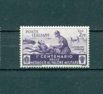 Italien, 100 Jahre Tapferkeitsmedaille, Nr. 504 Falz * - 1900-44 Victor Emmanuel III.