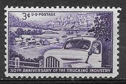 1953 3 Cents Trucking, Mint Never Hinged - Stati Uniti