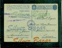 FRANCHIGIE-CARTOLINA POSTALE IN FRANCHIGIA-N. 27/9-POSTA MILITARE 141-BOLLI CENSURA - PER PARMA-DIVISIONE FANTERIA ZARA - Weltkrieg 1939-45