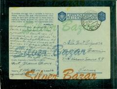 FRANCHIGIE-CARTOLINA POSTALE IN FRANCHIGIA-N.16/22-POSTA MILITARE 141-BOLLI CENSURA -PER PARMA - Guerra 1939-45